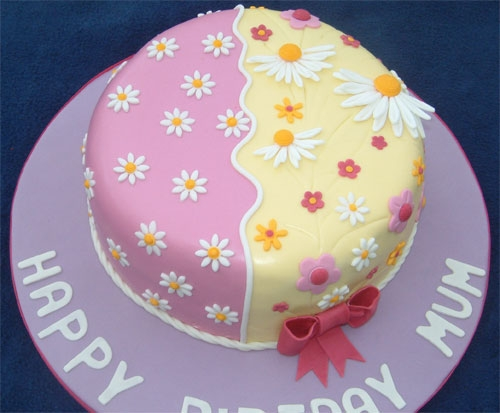 Pretty flower cake party fun picture of pretty flower cake mightylinksfo Choice Image