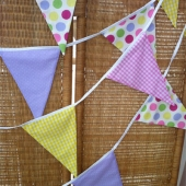 Picture of Fabric Bunting - Pink Lilac Yellow