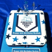Picture of Preston North End Football Cake