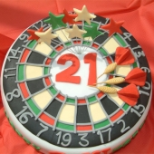 Picture of Dartboard Cake