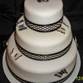 Picture of Black Butterfly Wedding Cake