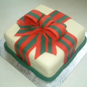 Picture of Christmas Festive Bow Cake