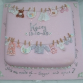 Picture of Baby Clothes Line Cake