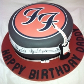 Picture of Foo Fighters Guitar Cake