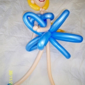 Picture of Blue Ballerina Balloon