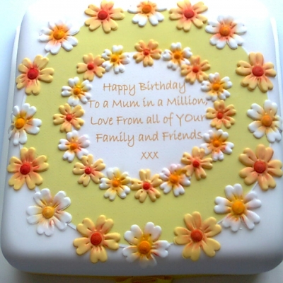 Picture of Mum Daisy Cake Square