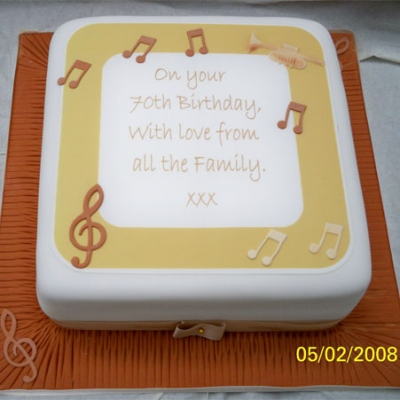 Picture of Musician Dad Cake