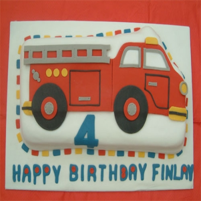 Picture of Fire Engine Cake