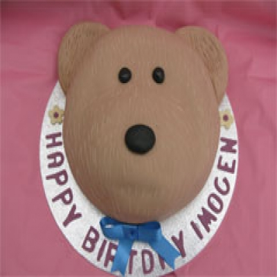 Picture of Teddy Face Cake