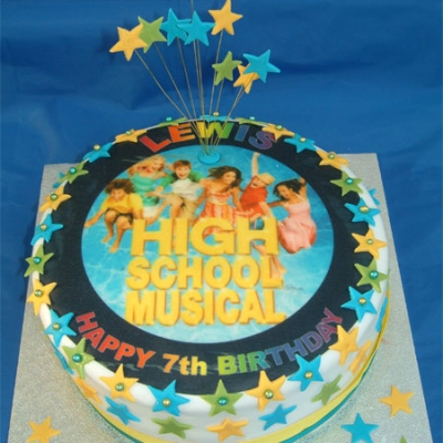 Picture of High School Musical Cake (Blue)