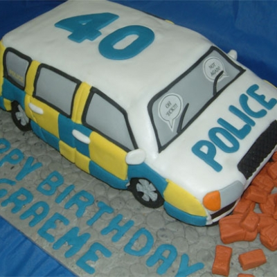 Picture of Police Car Cake