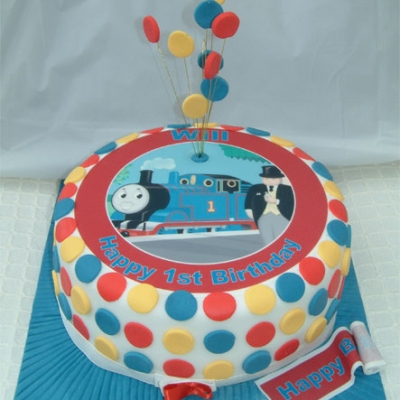 Picture of Thomas the Tank Photo Cake