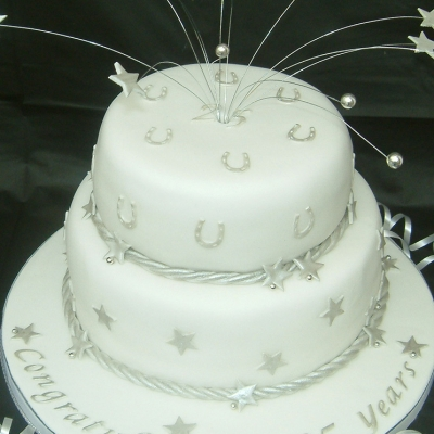 Picture of Silver Wedding Cake