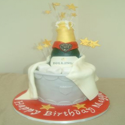 Picture of Champagne Bottle Cake