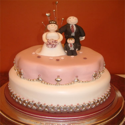 Picture of Happy Family Wedding Cake