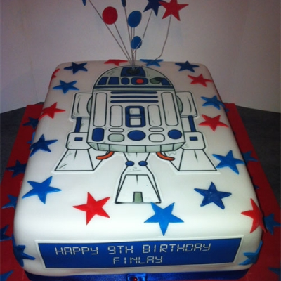 Picture of R2D2 Rectangular Cake