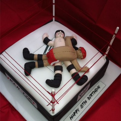 Picture of Wrestlers Cake