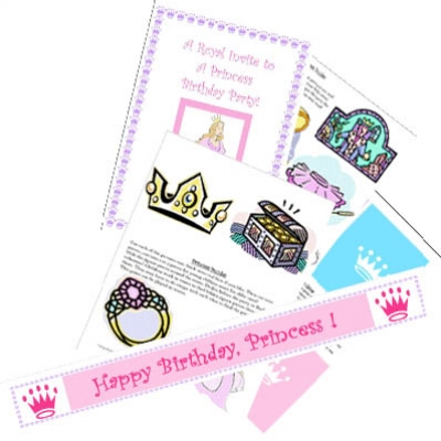 Picture of Princess Party Printable Games & Ideas Kit