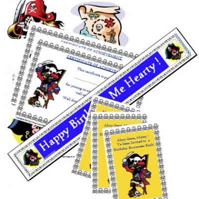 Picture of Pirate Party Printable Games & Ideas Kit