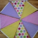 Thumbnail image for: Fabric Bunting - Pink Lilac Yellow