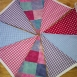 Thumbnail image for: Fabric Bunting - Blue Lilac Pink